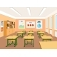 Vector Illustration of an Empty Classroom - GraphicRiver Item for Sale