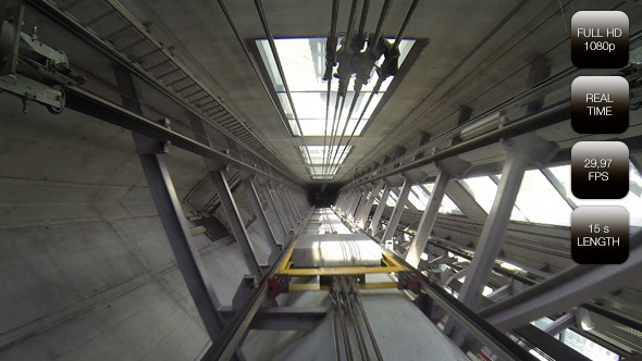 Elevator Shaft Sky Tower Auckland New Zealand