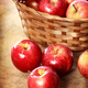 Red apples in a basket - PhotoDune Item for Sale