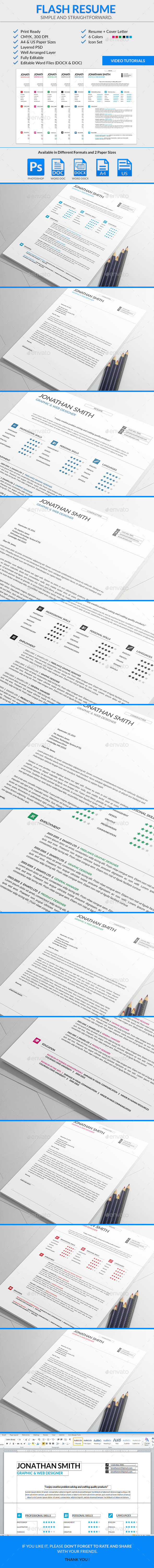 GraphicRiver Flash Resume Template 9248288