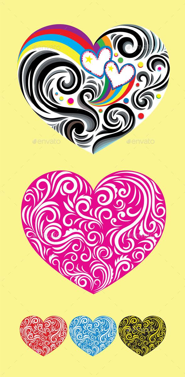 GraphicRiver Heart Love Ornament 9248519