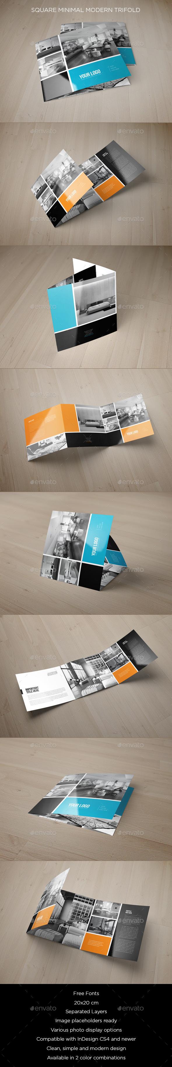 GraphicRiver Square Minimal Modern Trifold 9248521