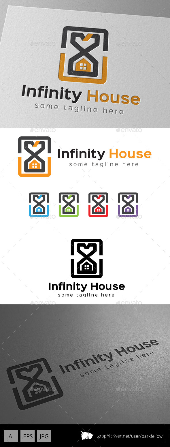 GraphicRiver Infinity Time House Property Logo 9249011