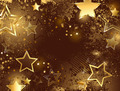 Brown Background with Golden Stars - PhotoDune Item for Sale