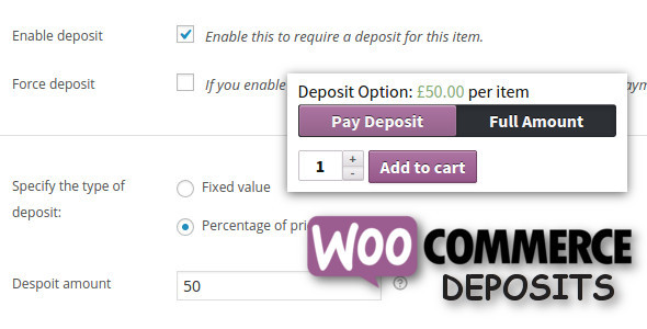 WooCommerce Deposits Partial Payments Plugin