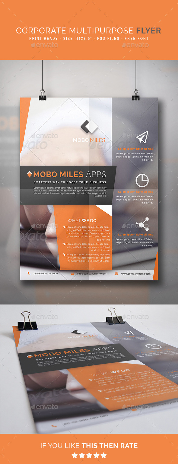 GraphicRiver Corporate Multipurpose Flyer 9249268