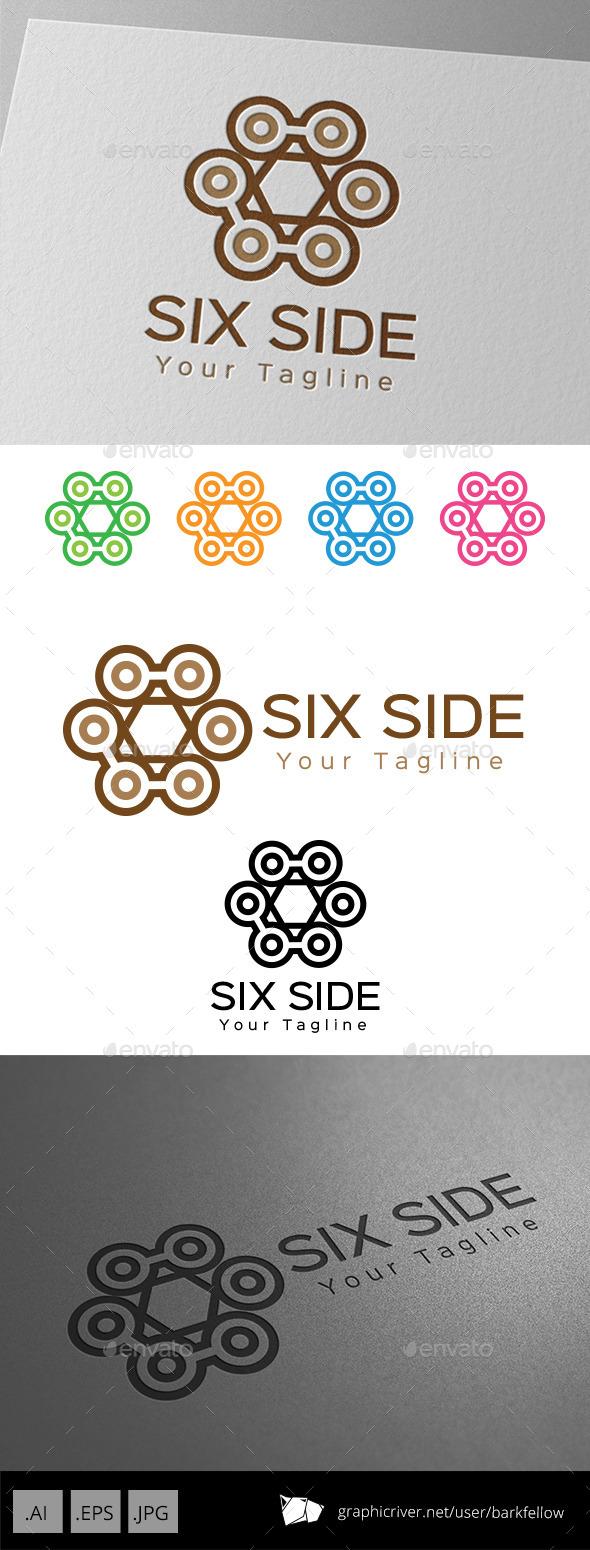 GraphicRiver Six Side Vintage Ornament Logo 9249288