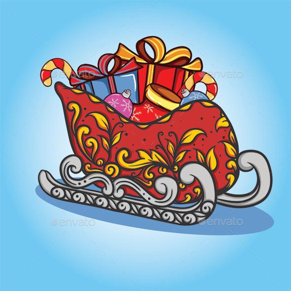 GraphicRiver Christmas Train 9249341