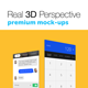 Real 3D Perspective Mock-Ups Phone 6 & 6+ Edition - GraphicRiver Item for Sale