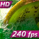 In the Glass Pours a Green Smoothie - VideoHive Item for Sale