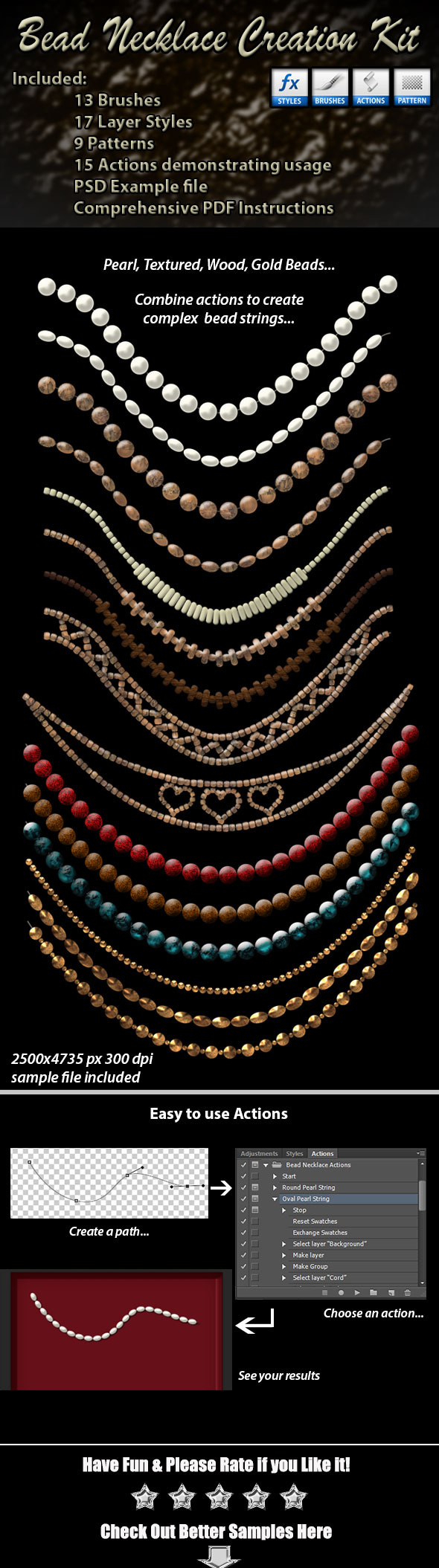 GraphicRiver Bead Necklace Creation Kit 9249673