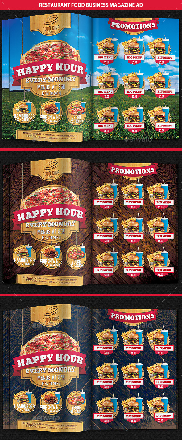 GraphicRiver Restaurant Food Promotion Magazine Ad 9249787