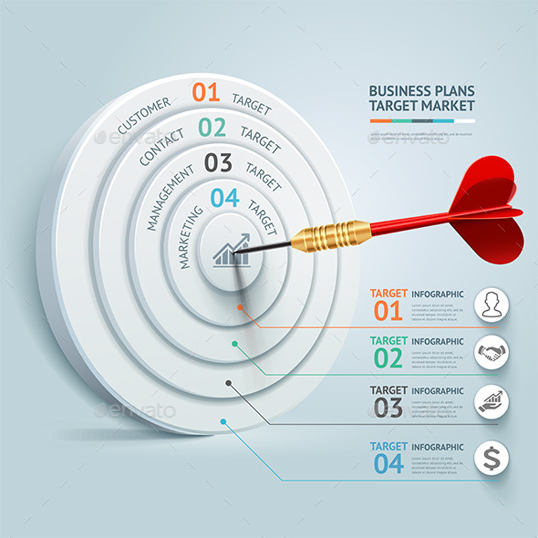GraphicRiver Business Target Marketing Dart Idea 9250009