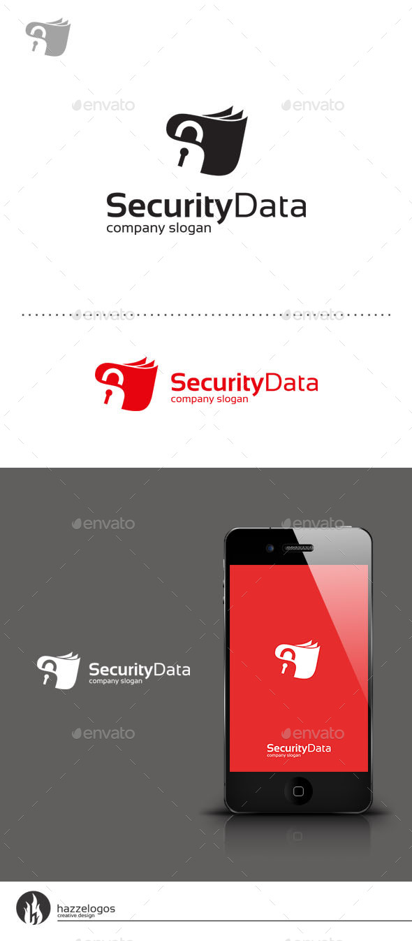 GraphicRiver Security Data Logo 9250138