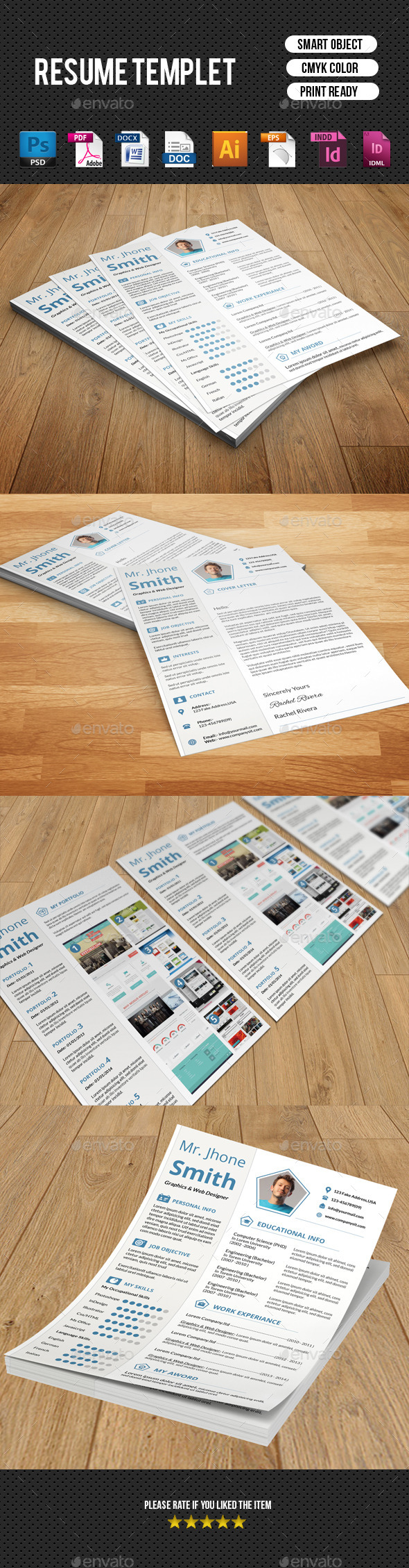 GraphicRiver Clean Resume Template-V11 9250140