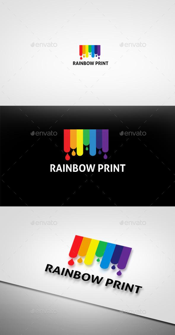GraphicRiver Rainbow Print Logo 9216361