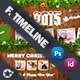 Christmas Timeline Cover Bundle Templates - GraphicRiver Item for Sale