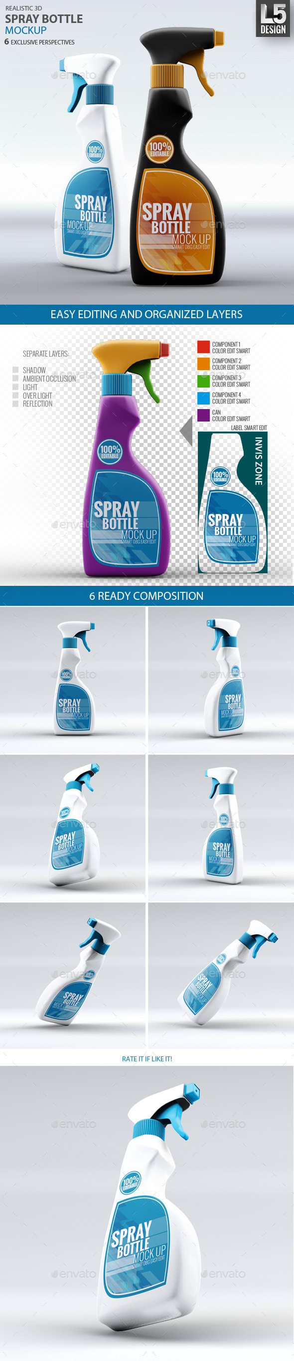 GraphicRiver Spray Bottle Mock-Up 9250588