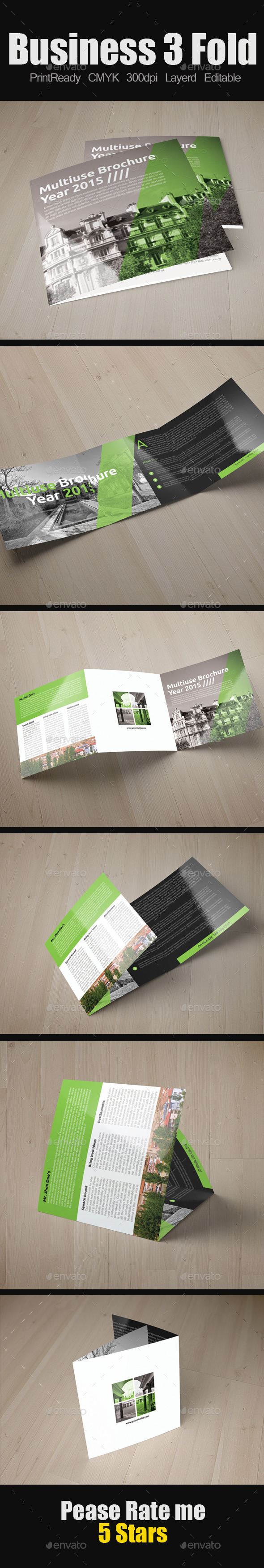 GraphicRiver Multi Use Business Square Trifold 9250696