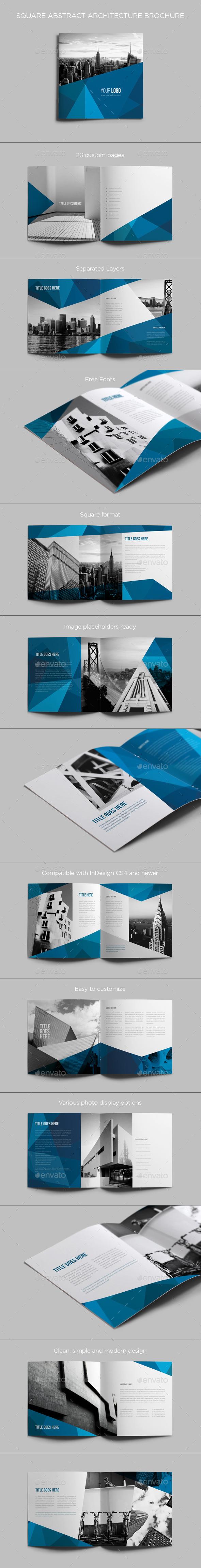 GraphicRiver Square Abstract Architecture Brochure 9204539