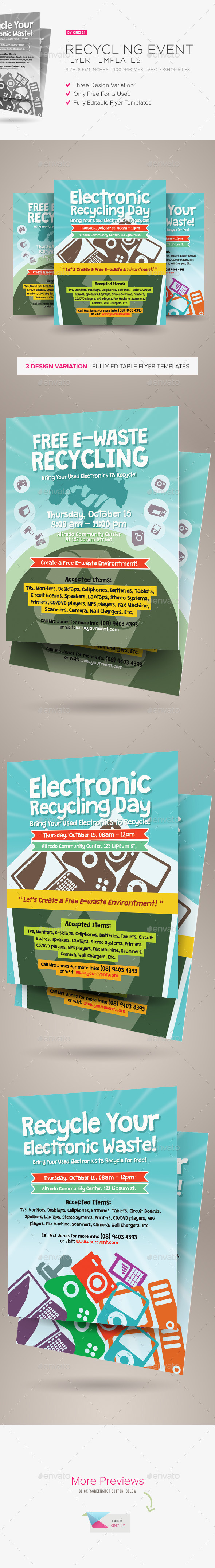 GraphicRiver Recycling Event Flyer Templates 9250703