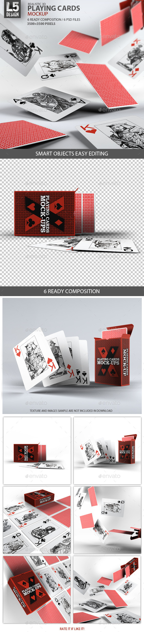 GraphicRiver Playing Cards Card Box Mock-Up 9250742