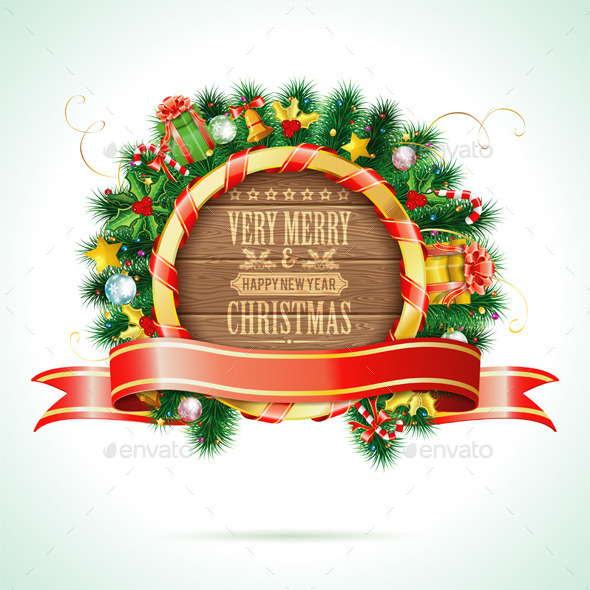 GraphicRiver Christmas Wreath 9250744