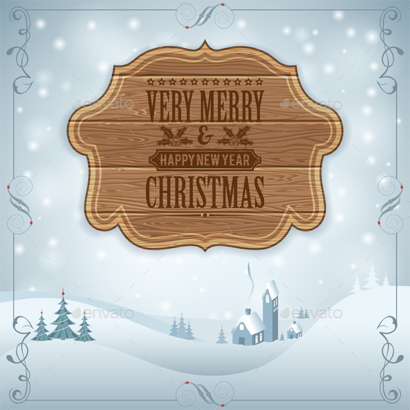 GraphicRiver Christmas Background 9250748