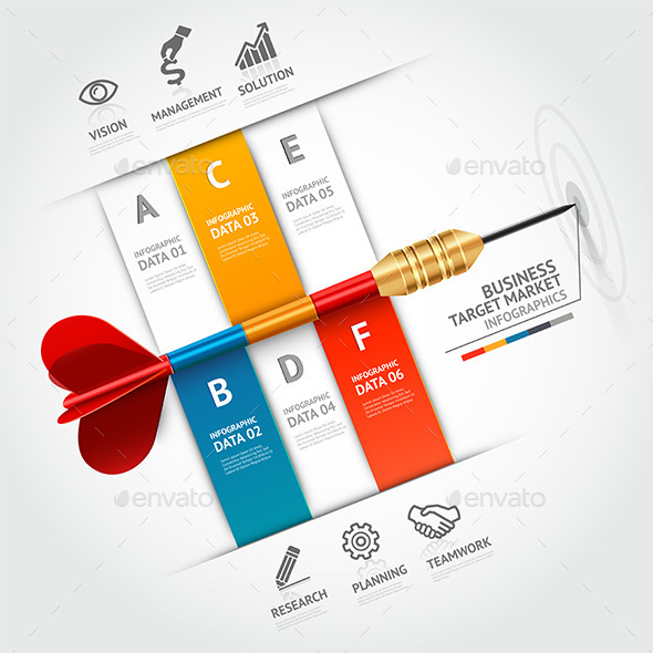 GraphicRiver Business Target Marketing Dart Infographic 9251129