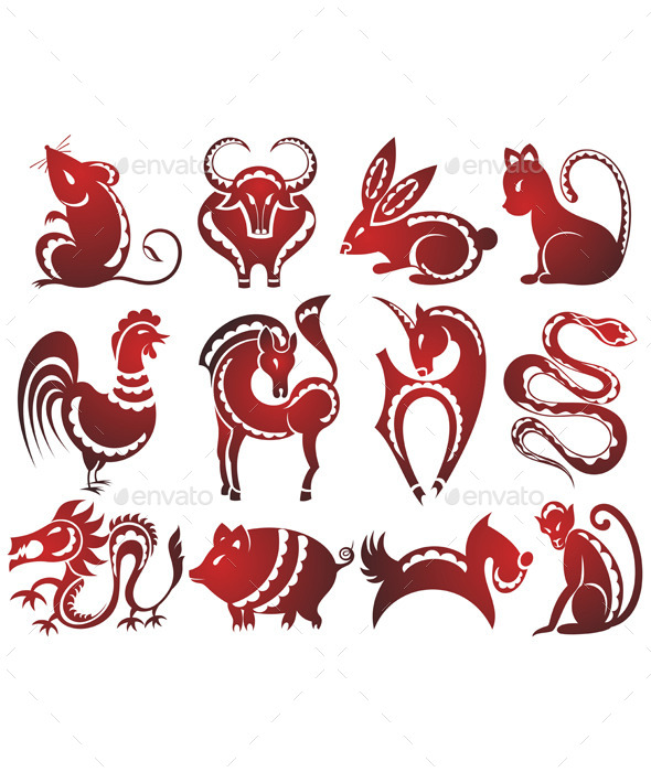 GraphicRiver Chinese Zodiac Signs 9251191