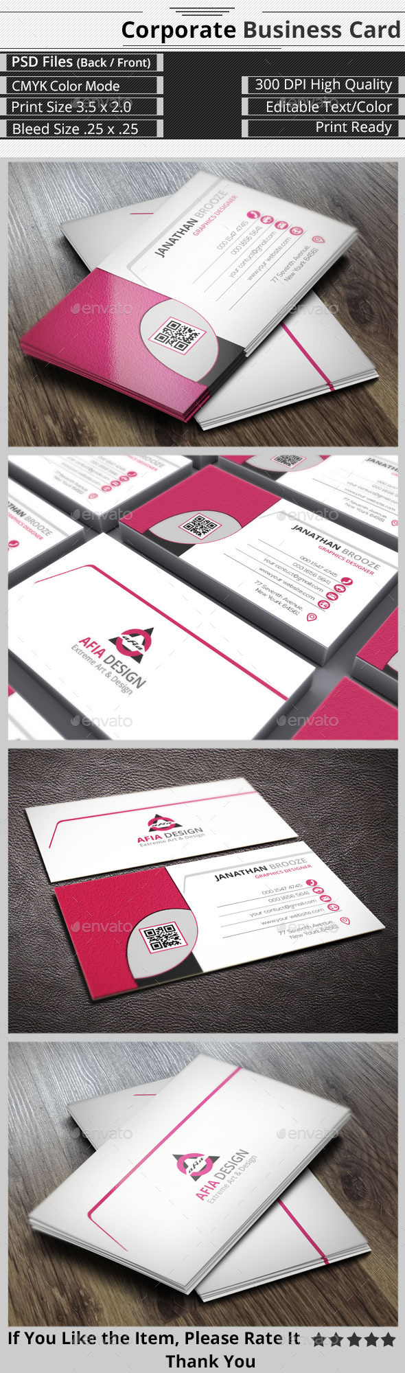 GraphicRiver Clean & Smart Corporate Business Card 9251292