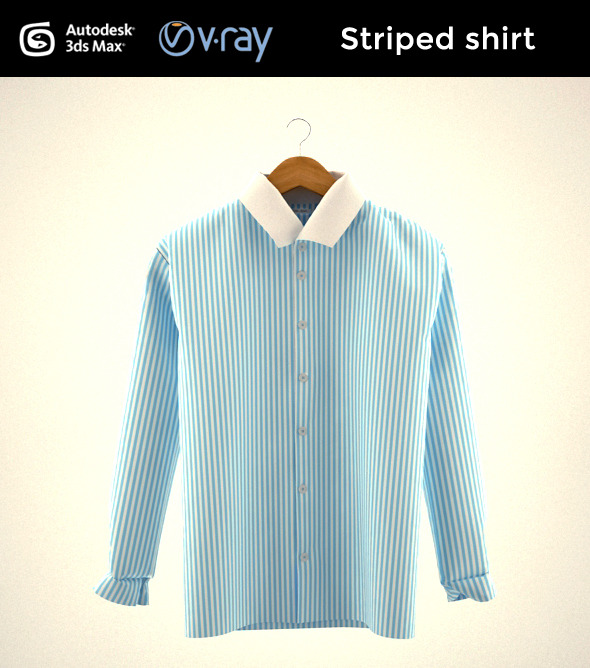 3DOcean Striped shirt 9251413