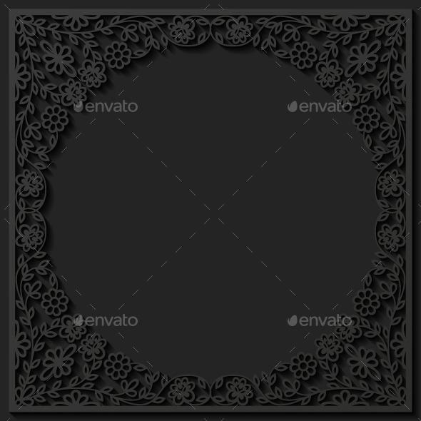 GraphicRiver Floral Frame 9251717
