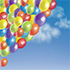 Baloons in a Blue Sky with Clouds - GraphicRiver Item for Sale
