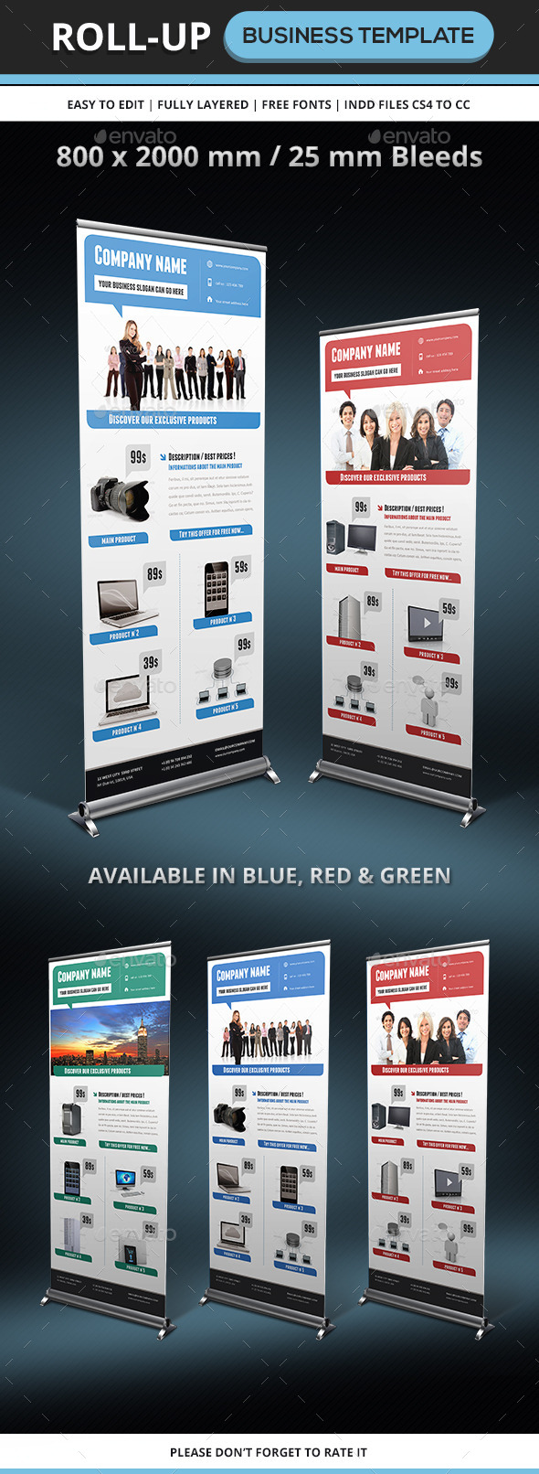 GraphicRiver Corporate & Business Rollup template 9204074