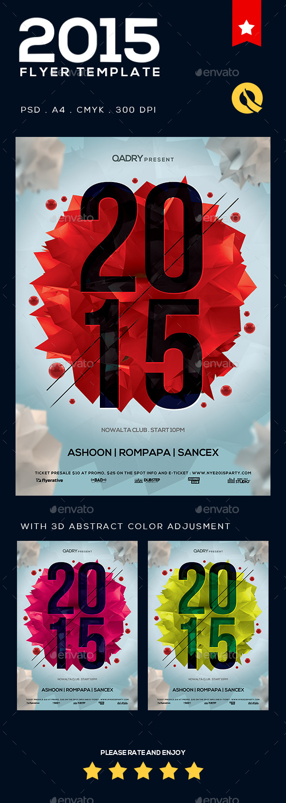 GraphicRiver NYE Flyer Template v.02 9252490