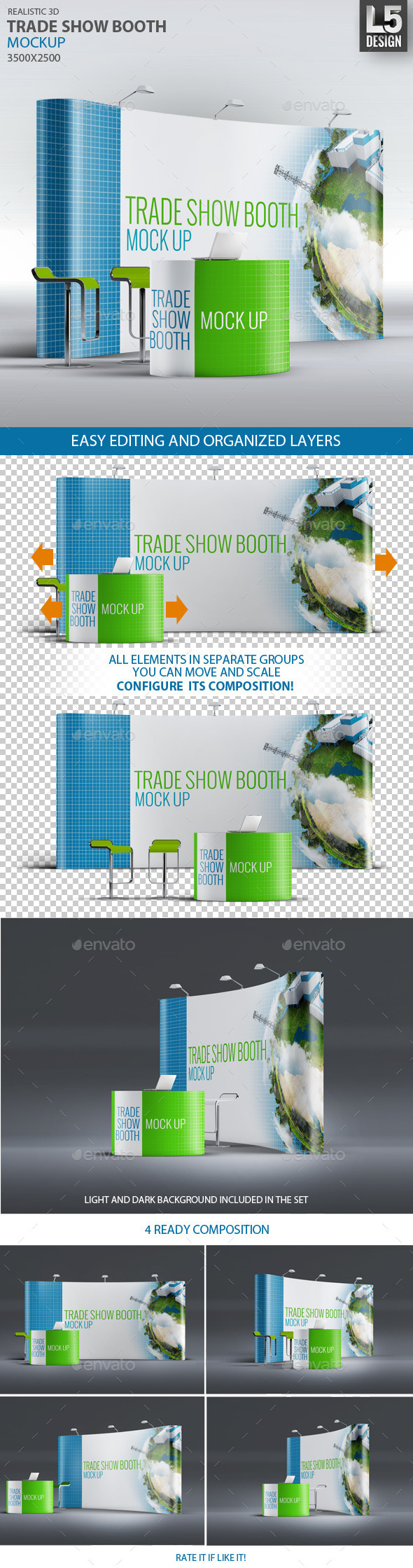 GraphicRiver Trade Show Booth Mock-up 9252924