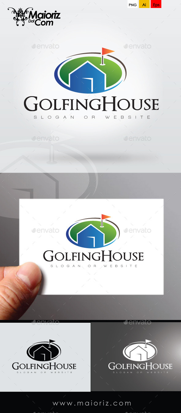 GraphicRiver Golfing House Logo Template 9253051