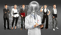 Business Team With Lamp Head Doctor - PhotoDune Item for Sale