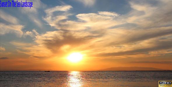 Sunset On The Sea Landscape