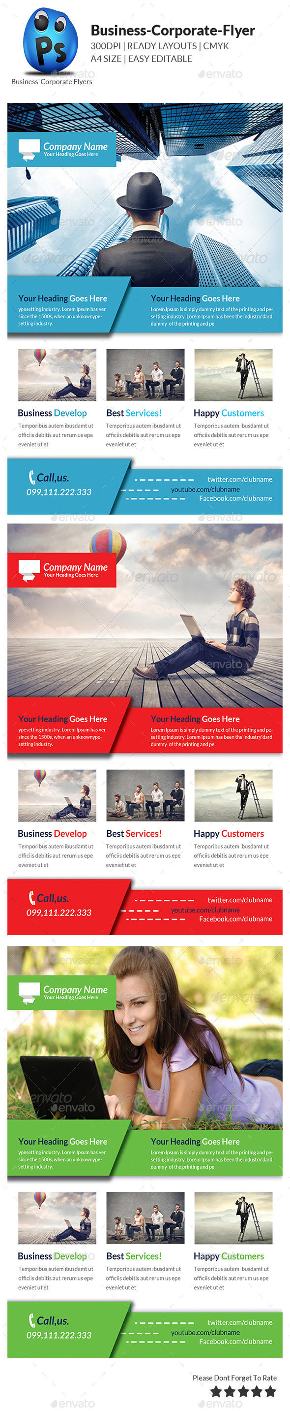GraphicRiver Corporate Business Flyer Template 9253165