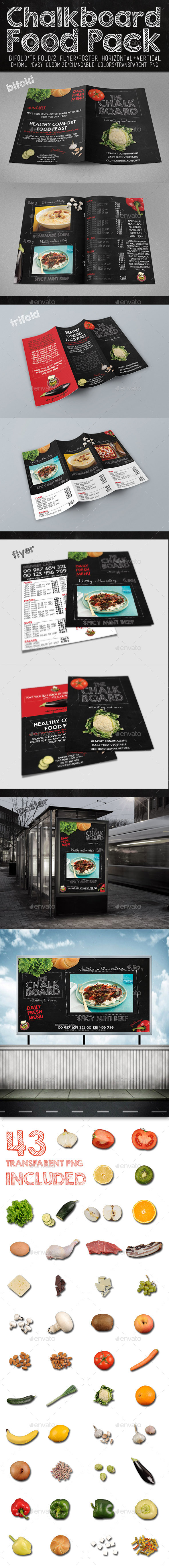 GraphicRiver Chalkboard Food Package 9253199