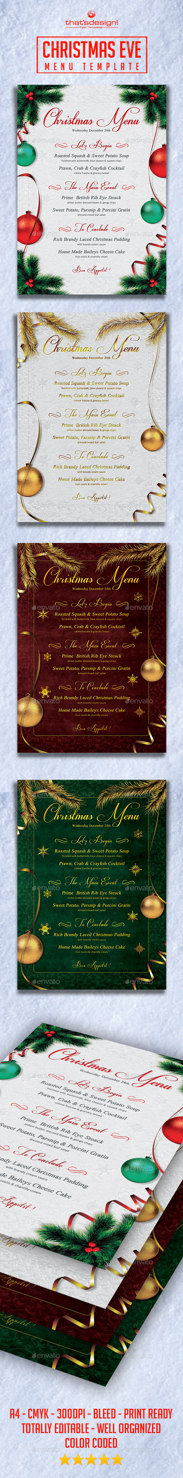 GraphicRiver Christmas Eve Menu Template 9207575