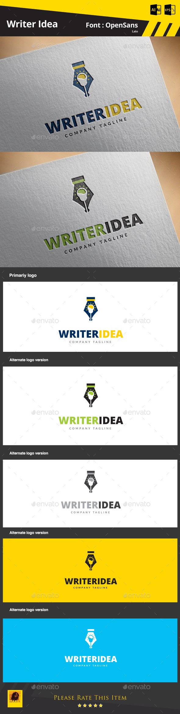 GraphicRiver Writer Idea 9214336