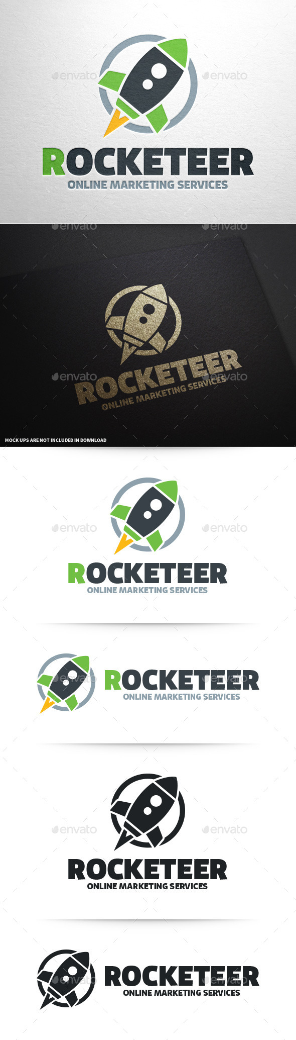 GraphicRiver Rocket Logo Template 9253233