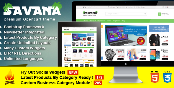 savana is 100% Responsive Opencart theme e-commerce theme created to suit all customers needs and all types of products. Also we challenge with this theme as i