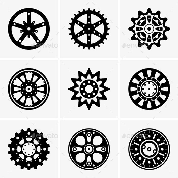 GraphicRiver Sprocket Wheels 9253288