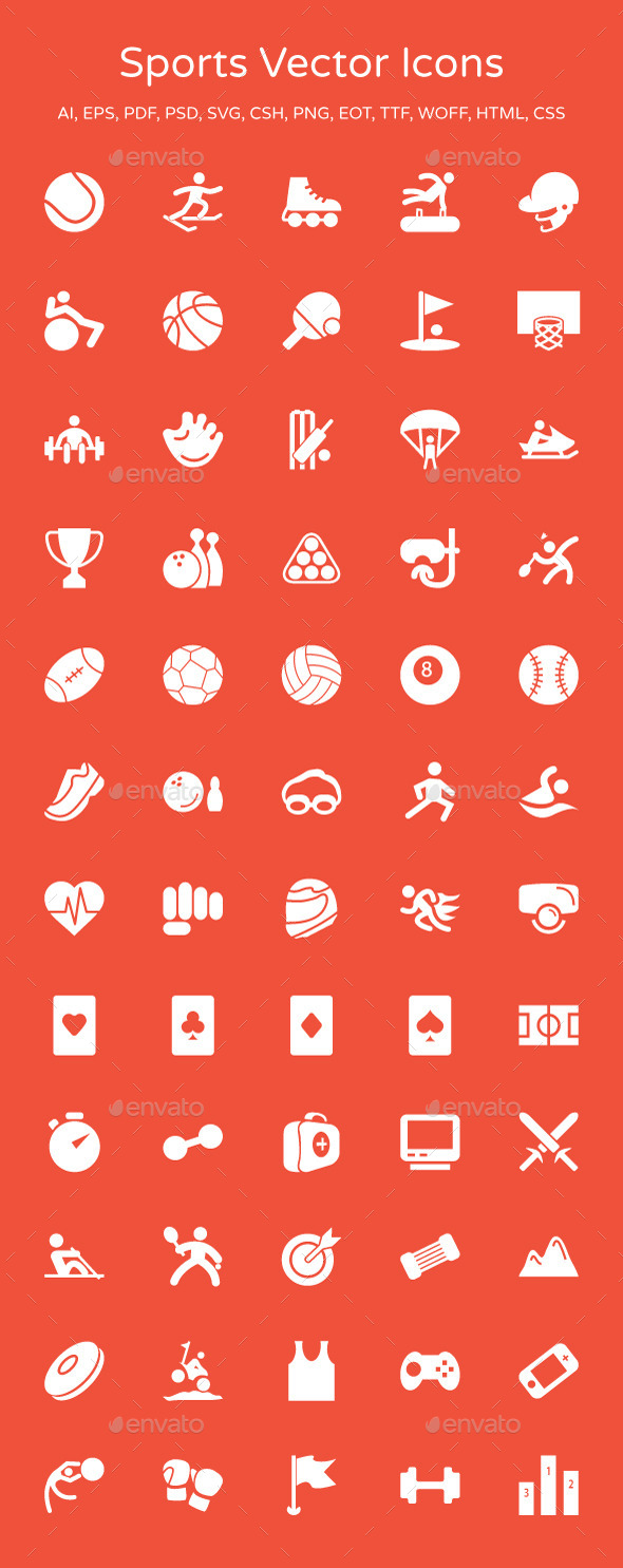 GraphicRiver Sports Vector Icons 9253289