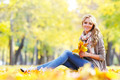 Woman in autumn park - PhotoDune Item for Sale