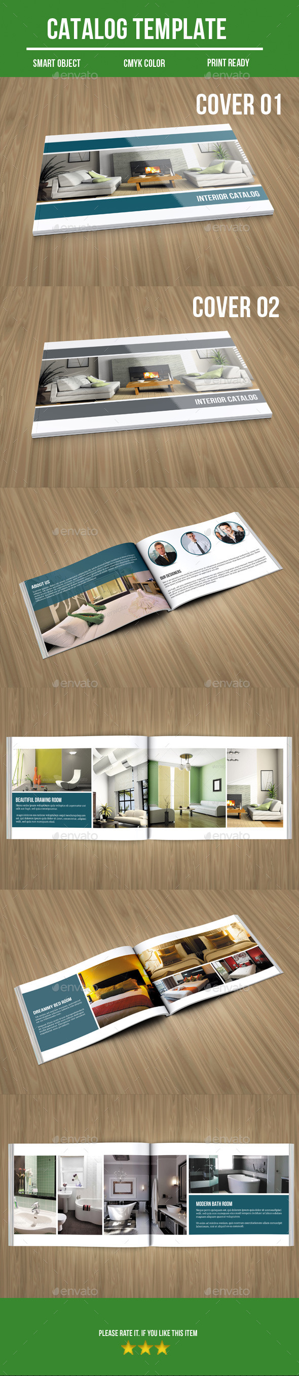 GraphicRiver Interior bi fold catalog 9253527